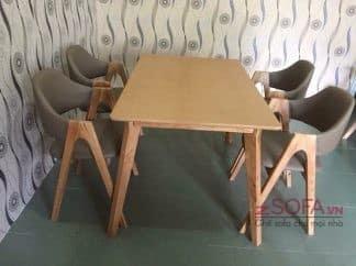 Bàn ăn ghế chữ A - 4 ghế