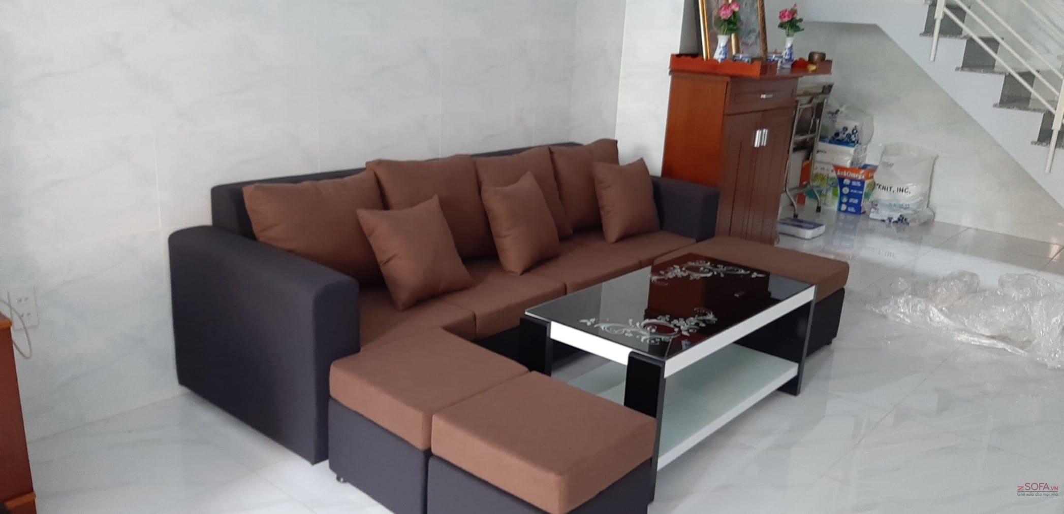Sofa giá rẻ DG5921 màu nâu