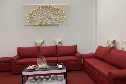 2 sofa băng màu đỏ KMZ050