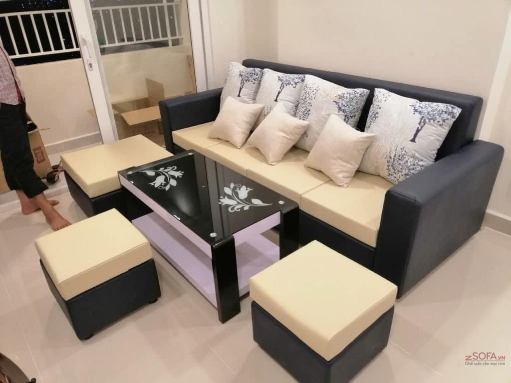 Sofa giá rẻ DG5921 màu vàng kmz055