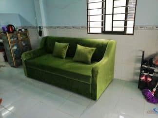 Sofa giường đa năng ZD118 màu xanh lá